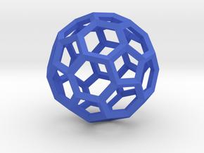 Truncated Icosahedron(Leonardo-style model) in Blue Processed Versatile Plastic