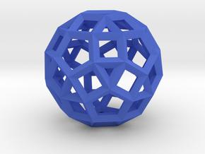 Rhombicosidodecahedron(Leonardo-style model) in Blue Processed Versatile Plastic