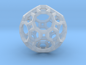 Truncated Icosidodecahedron(Leonardo-style model) in Smooth Fine Detail Plastic