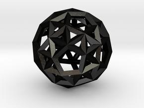 Snub Dodecahedron(Leonardo-style model) in Matte Black Steel