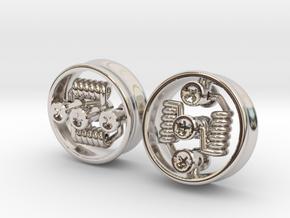 "NEW 1"" RDA PLUGS PAIR - CHEAPEST OPTION! in Platinum"