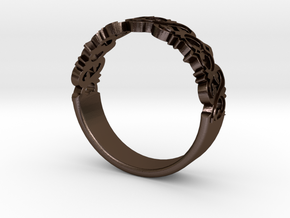 Decorative Ring 1 in Polished Bronze Steel
