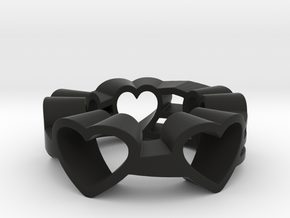 Love Lines Ring Size 7.25 in Black Strong & Flexible