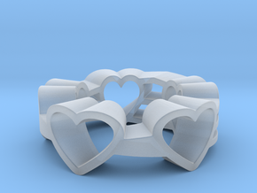 Love Lines Ring in Smooth Fine Detail Plastic: 6 / 51.5