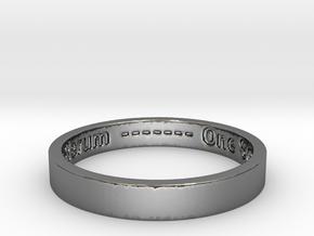177 tempus edax rerum john titor Ring Size 7 in Fine Detail Polished Silver