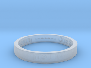 177 tempus edax rerum john titor Ring Size 7 in Smoothest Fine Detail Plastic