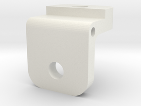 Rear Sight Insert in White Natural Versatile Plastic