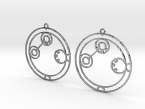 Adaline - Earrings - Series 1 in Fine Detail Polished Silver