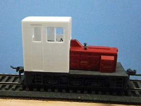 F Scale critter cab in White Natural Versatile Plastic