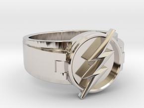 V2 Flash Ring Size 10.5, 20.20 mm in Platinum