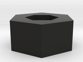 Pentagon Pendant in Black Strong & Flexible