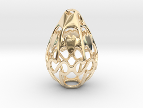 Geo Alpha Dewdrop in 14k Gold Plated Brass