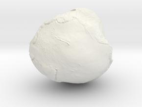 "Geoid - 2"" diameter hollow earth gravity model in White Natural Versatile Plastic"