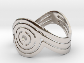 Concentric Ring Size 6 in Platinum