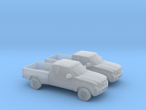1/160 2X 2001 - 12 Ford Ranger in Smooth Fine Detail Plastic