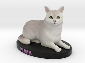 Custom Cat Figurine - Puma in Full Color Sandstone