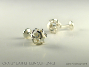 Ora by Bathsheba Cufflinks in Natural Silver