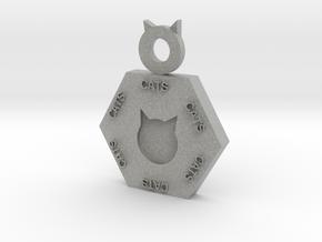 Cat Pendant in Metallic Plastic