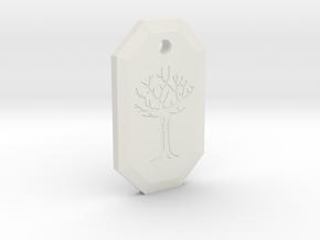 Gared's Pendant in White Natural Versatile Plastic