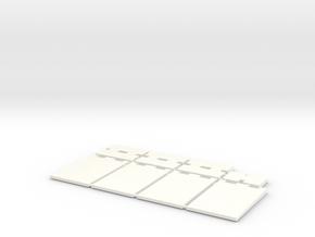 1/87 HO Fahrsilo-Wandelemente 3,5m - 8 Tlg - in White Processed Versatile Plastic