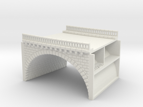 NV2M7 Modular viaduct 2 tracks in White Natural Versatile Plastic