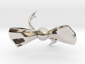 Ribbon Knot Bracelet Sized For Children in Rhodium Plated Brass