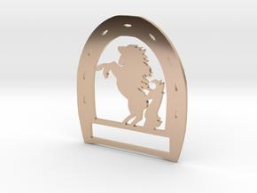 Horseshoe Pendant in 14k Rose Gold Plated Brass