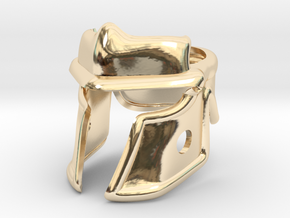 Roman Helm in 14k Gold Plated Brass