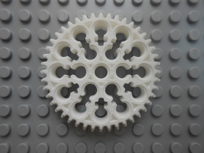 LEGO®-compatible alt. 44-tooth bevel gear R2 in White Natural Versatile Plastic