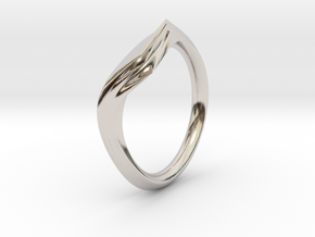 Pride Ring, Side 1 in Rhodium Plated Brass