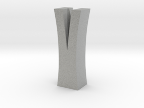 Split Log Vase in Metallic Plastic