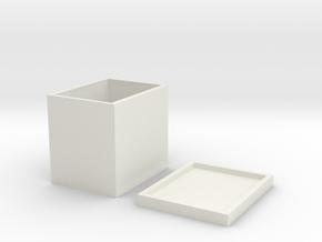 MicroMacro Mechanical Keyboard Housing in White Natural Versatile Plastic