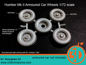 Humber Mk II Tires 1/72 scale SWFUD-72-007 in Frosted Ultra Detail