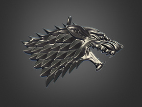 Game Of Thrones - Stark in Polished Bronzed Silver Steel