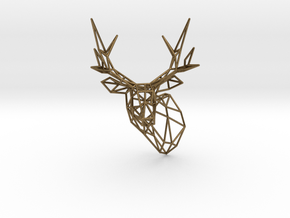 Small Stag Head 75mm Facing Left 1:12 Scale in Natural Bronze