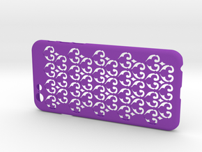 Fleur-de-lis iPhone6/6S case in Purple Processed Versatile Plastic