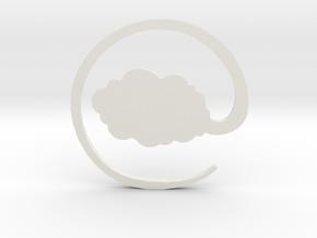 Nimbus Necklace Pendant - Dragon Ball in White Natural Versatile Plastic