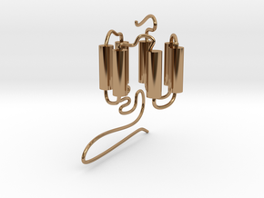 GPCR(3D) in Polished Brass