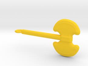 Battle Axe in Yellow Processed Versatile Plastic