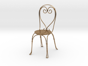 Vintage Cafe chair in Natural Brass