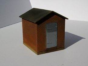 Tower 106 Auxiliary Building (HO 1:87) in White Natural Versatile Plastic
