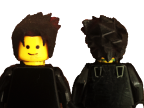 Custom Sasuke Inspired Lego in White Strong & Flexible
