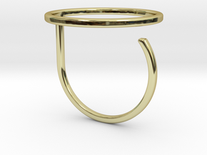 Circle ring shape. in 18k Gold