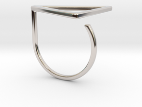 Triangle ring shape. in Platinum