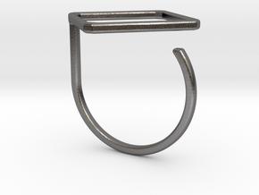 Rhombus ring shape. in Polished Nickel Steel
