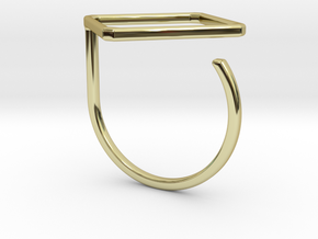 Rhombus ring shape. in 18k Gold Plated Brass