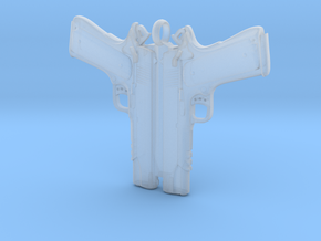 Colt 1911 Pendant in Smooth Fine Detail Plastic