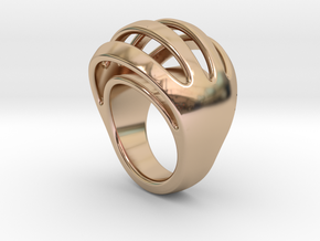 RING CRAZY 29 - ITALIAN SIZE 29  in 14k Rose Gold Plated Brass