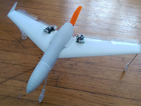 Mach 4 Micro Flying Wing in White Natural Versatile Plastic
