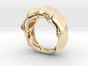 Leatherback Turtle Shell Ring  in 14k Gold Plated Brass: 5 / 49
